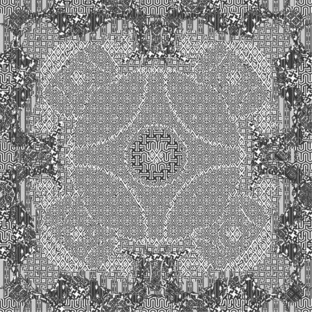 Seamless patterned frame in the form of square tiles Vector