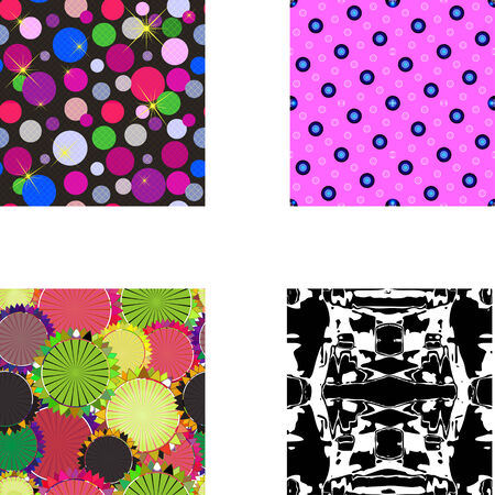 Set of seamless textures patterned in the form of a square frame Vector