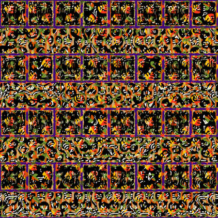 Seamless patterned frame in the form of square tiles;  Vector
