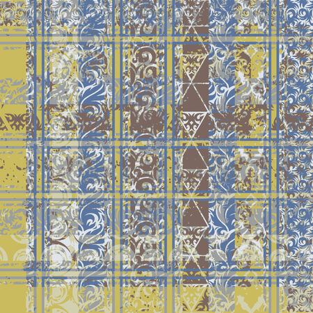 Seamless patterned texture in the form of square tiles Vector