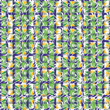 Creative patterned texture in the form of square tiles Vector