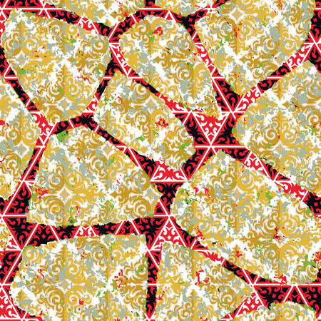 Creative patterned frame in the form of square tiles Vector