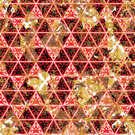 Patterned creative texture of the triangles in the form of square tiles Vector