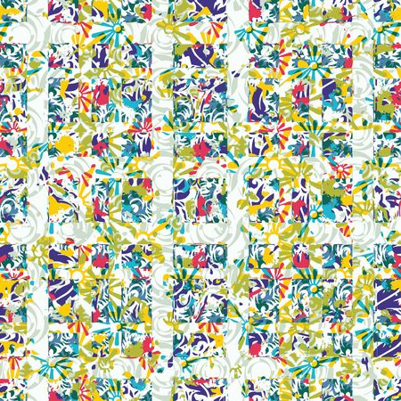 patterned: Creative patterned frame in the form of square tiles