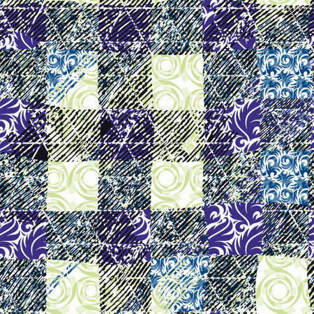 patterned: Patterned creative texture of square tiles Illustration