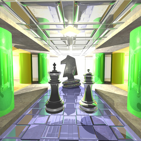 palace: Decor: Fantastic Chess Palace in a distant galaxy