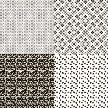 patterned: Set of patterned textures as square tiles