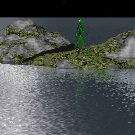 green man: Green Man is the island at night in a distant galaxy