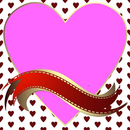 perforation tape: Creative Valentine patterned in the form of a square frame