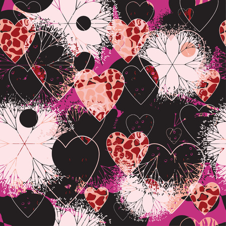 patterned: Seamless patterned texture to Valentinov day