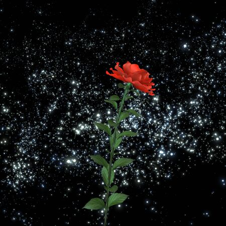 distant: Fantastic flower in a distant galaxy