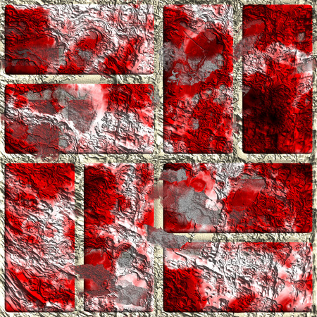decorative line: Creative framing texture in the form of square tiles Stock Photo