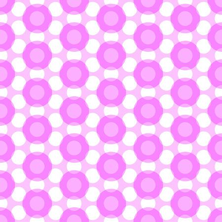 translucent: Vector seamless pattern with translucent polka dots Illustration