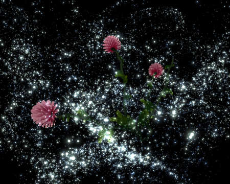 distant: Mysterious clover flowers in a distant galaxy