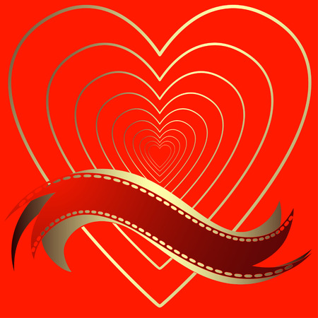 perforation tape: Image of heart on a red background in the form of square tiles