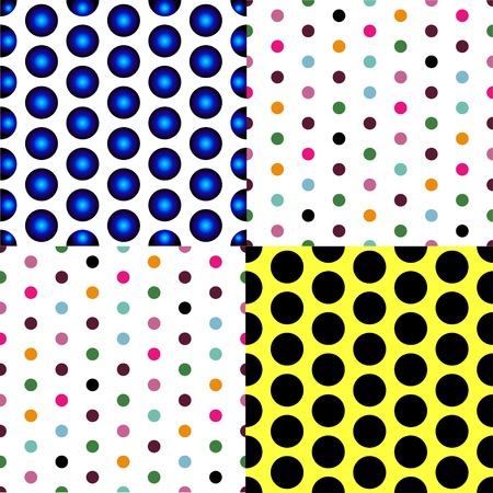 patterned: Seamless patterned white texture with colorful polka dots