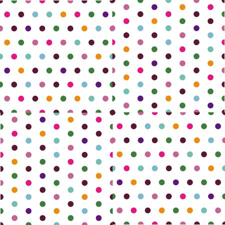 brown pattern: Vector - Creative patterned white texture with colorful polka dots