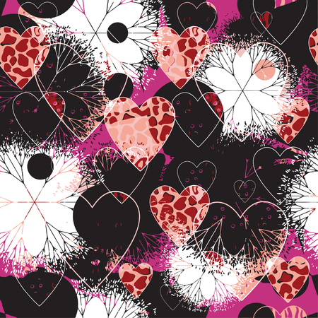 Seamless patterned texture to Valentines day