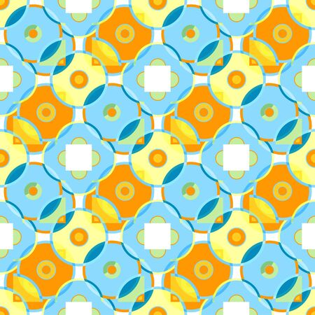 Seamless patterned texture in the form of a square tile (vector EPS 10)