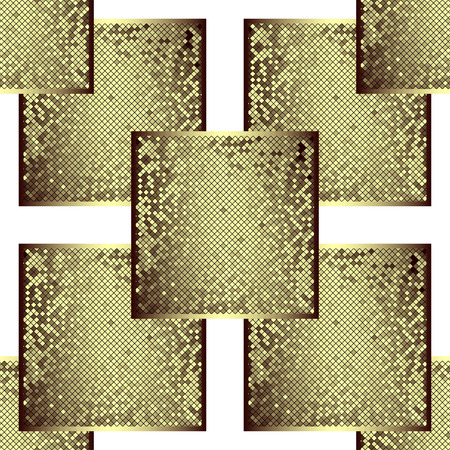 terrazzo: Gold in the form of a frame patterned square tiles (vector EPS 10)