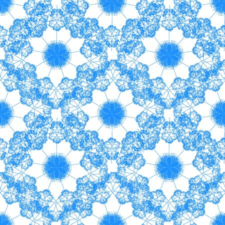 Creative patterned image in the form of square  (vector EPS 10)