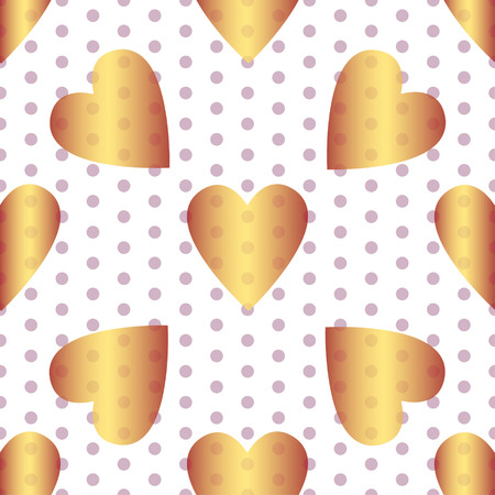 A Seamless valentine spotty pattern with translucent hearts Illustration