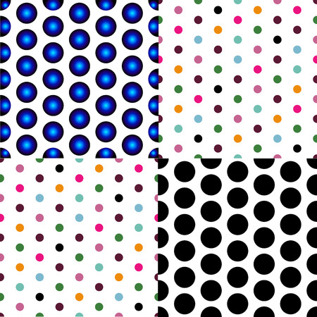 Vector - Seamless patterned white texture with colorful polka dots