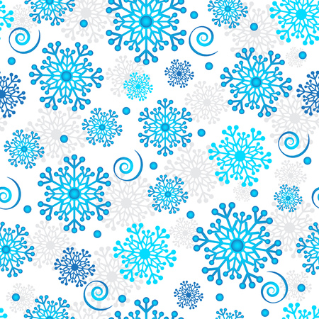 Creative snowflake seamless texture in the form of a square tile, eps 8