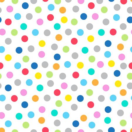 Modèle sans couture multicolore sur un petit fond transparent à pois, eps 8 Vecteurs
