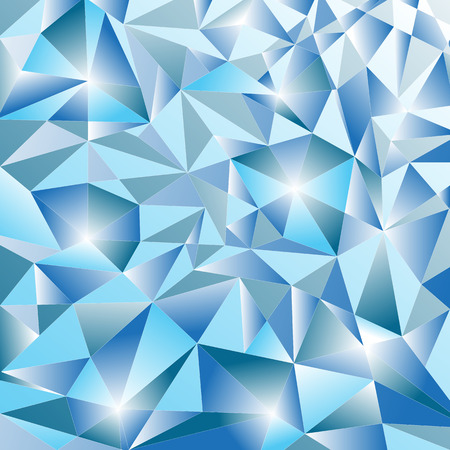 Sparkling winter pattern of ice gradient crystals. Frame. Vector image, eps 8