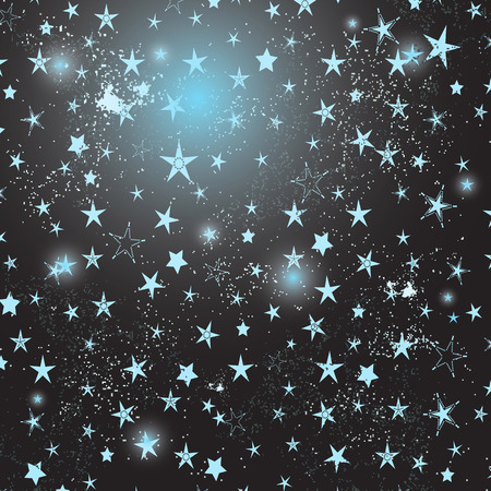 Elegant frame with stars and flashes. Vector image. Eps 10