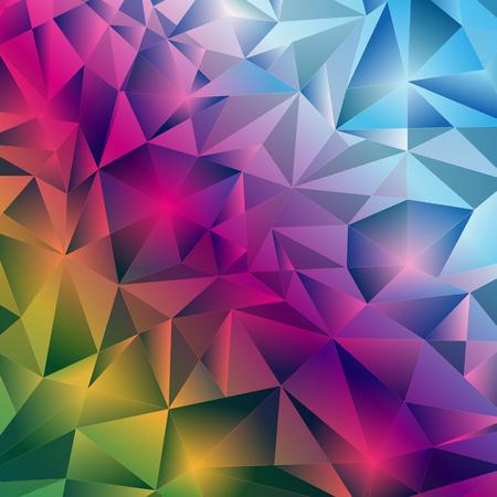 Motif arc-en-ciel étincelant de cristaux de gradient de glace. Cadre. Image vectorielle, eps 10