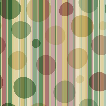 Seamless pattern with pastel stripes and transparent balls. Retro background.
