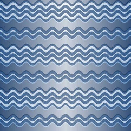 Seamless pattern with silvery waves. Vector image