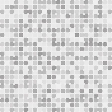 Light gray silver seamless pattern of squares with rounded corners.