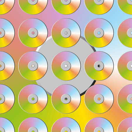 Creative patterned texture of discs on a black background. EPS vector 10