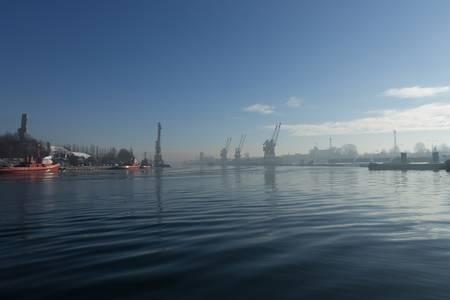 Port of Gdansk at sunrise - Poland photo