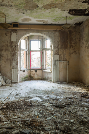 freemasonry: Destroyed, abandoned room in the former headquarters of Freemasonry in Gdansk, Poland