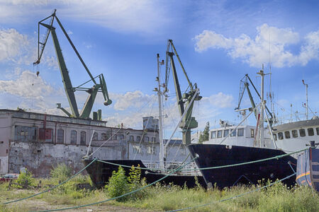 stockroom: Bankrupt shipyard in Gdansk