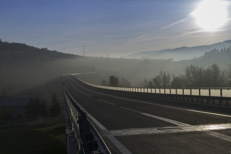 bridge construction: Bridge in Zywiec Beskid Mountains in Poland