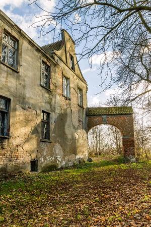 teutonic: Rovine del Cavalieri Teutonici maniero fortificato, situato nel delta della Vistola, la Polonia