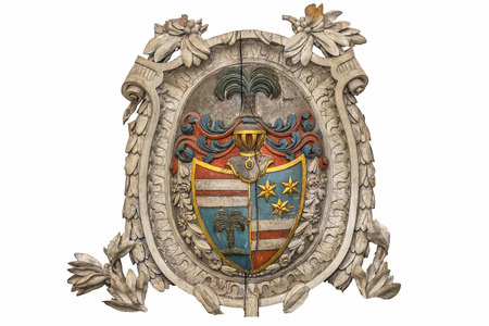 Bas-relief coat of arms knight photo