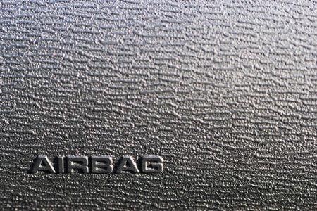 Sign airbag in a car photo