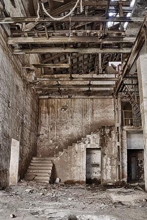 door in an abandoned factory  photo