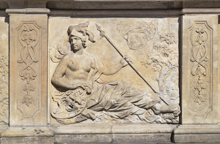 olympian: Bas-relief at the Artus Court in the old town in Gdansk, Poland
