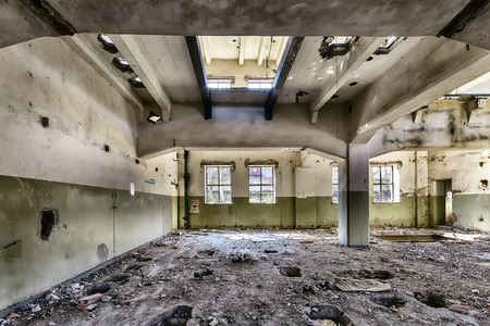 Abandoned factory after the financial crisis photo