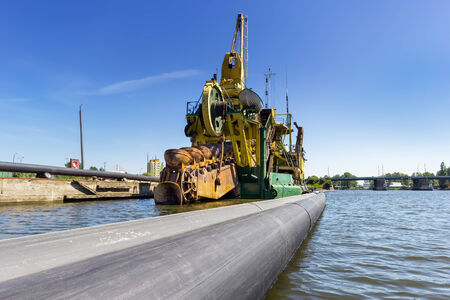 Dredging at the port of Gdansk, Poland photo