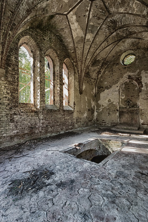 Abandoned chapel aristocratic family in Poland, Europe photo