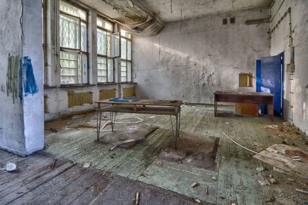 Abandoned devastated school, ready for renovation photo