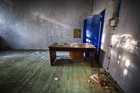 devastated: Abandoned devastated school, ready for renovation